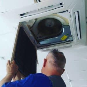 Техническое обслуживание сплит-систем в ТЦ Европа.