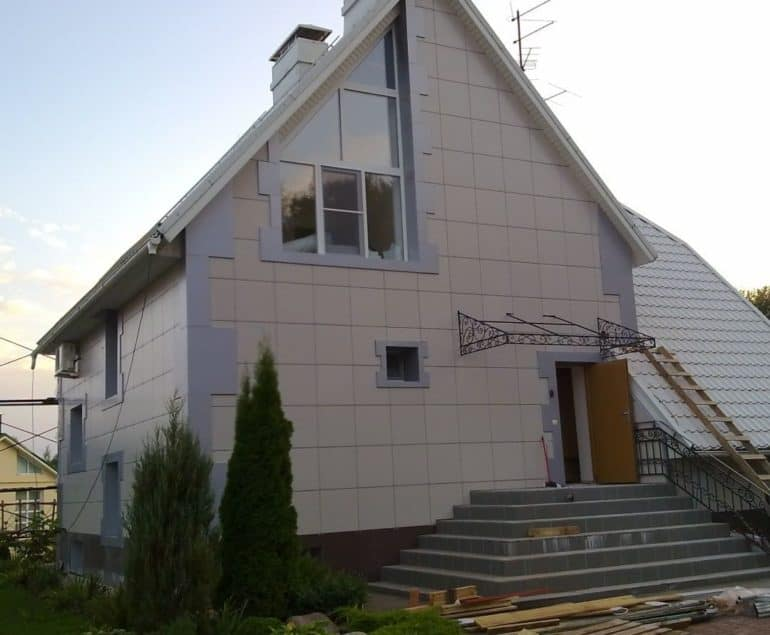 Монтаж вентилируемого фасада в частном доме