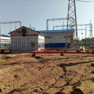 Установка вентилируемого фасада на электроподстанции