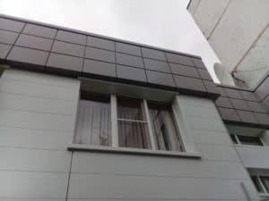 Монтаж вентилируемого фасада в административном здании