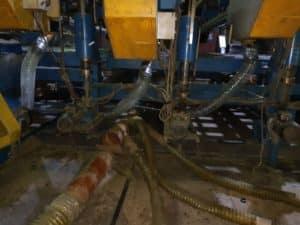Монтаж системы аспирации на одном из заводов по производству утеплителя