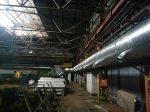 Монтаж вентиляции на крупном заводе в Владимирской области.